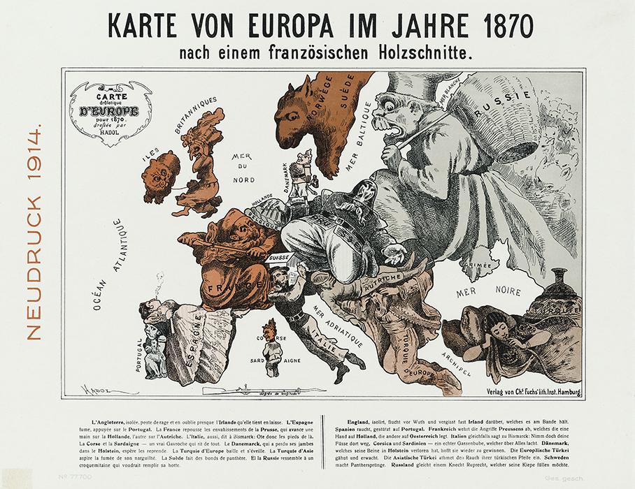 Karte Von.1 Weltkrieg Humoristische Karten Von Europa 1914